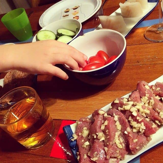 17. Ouderwets gourmetten