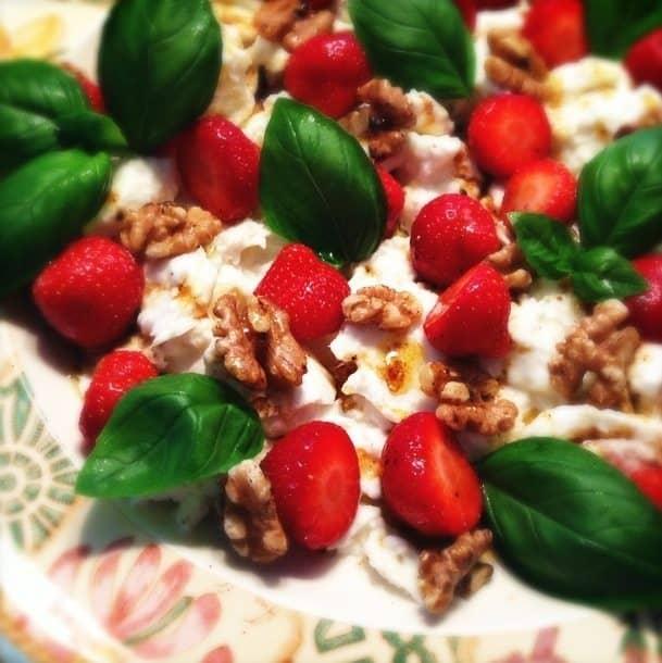 Aardbeien caprese_2