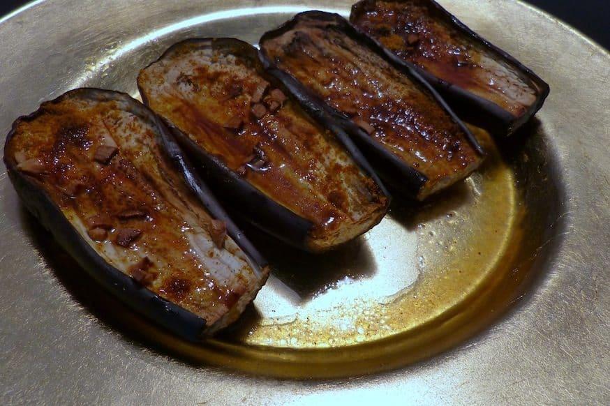 Aubergine uit de oven met kerrie en honing_2