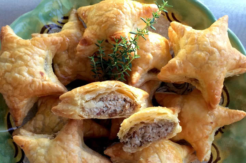 Gevulde bladerdeegsterren met kastanjechampignons francesca kookt - Kind oud ...