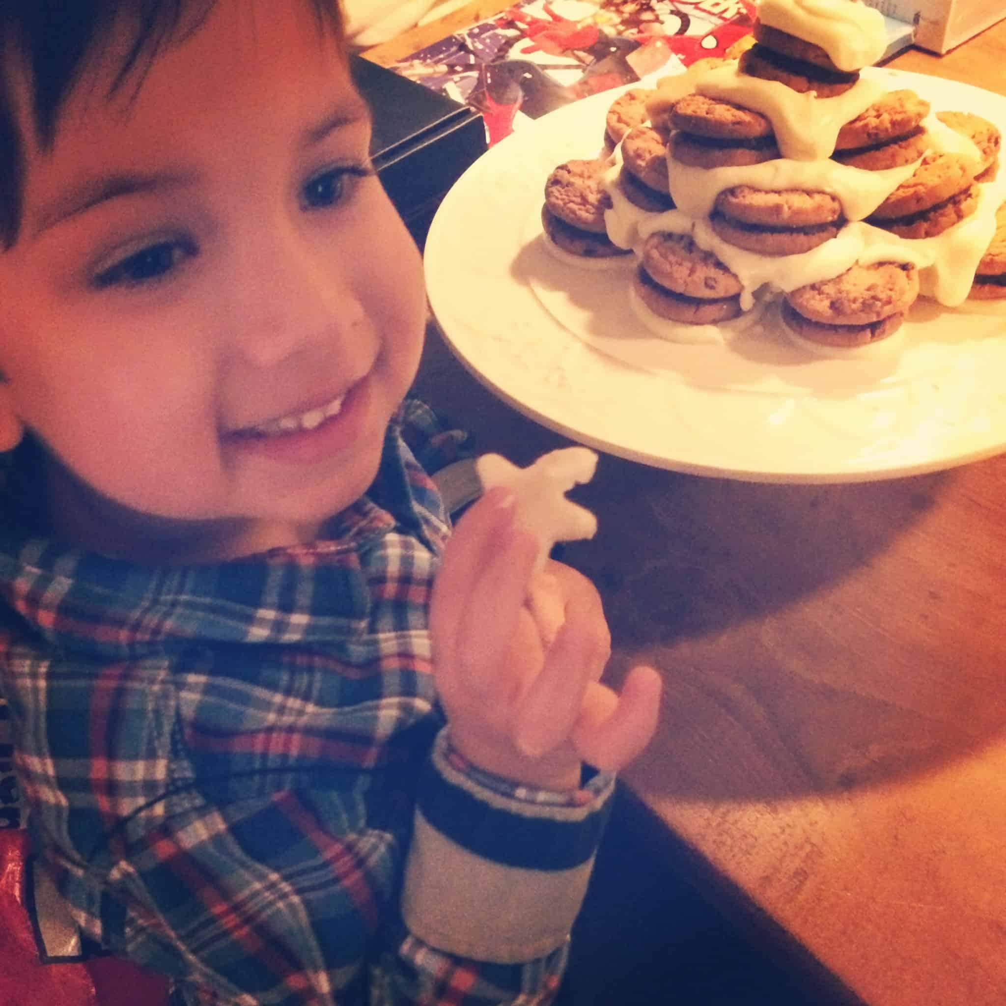 Chocoladekoekjes kerstboom_genieten