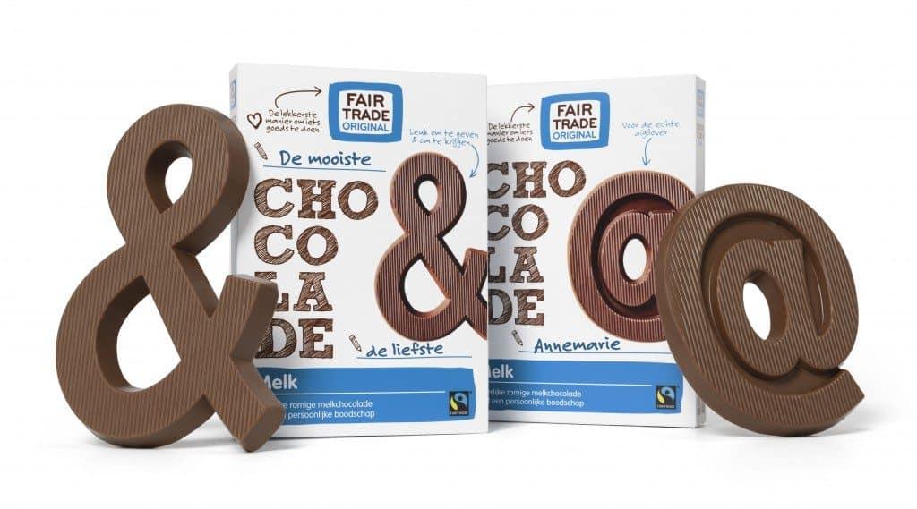 Chocoladeletters &+@ melk Fair Trade Original-sfeer01-TEKST-v2