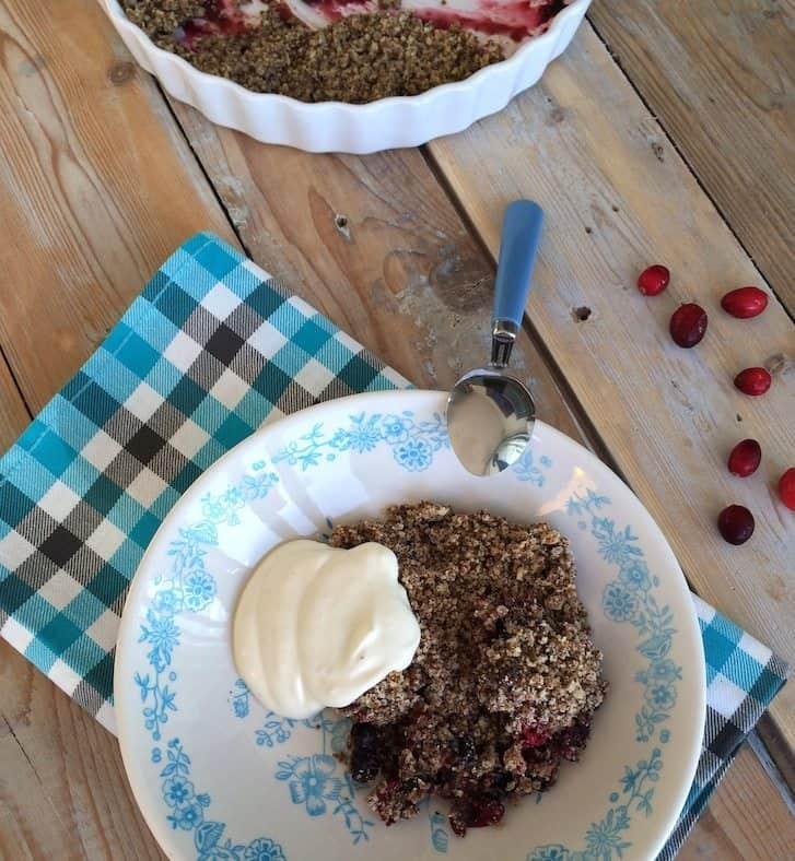 Crumble met cranberries en blauwe bessen_2