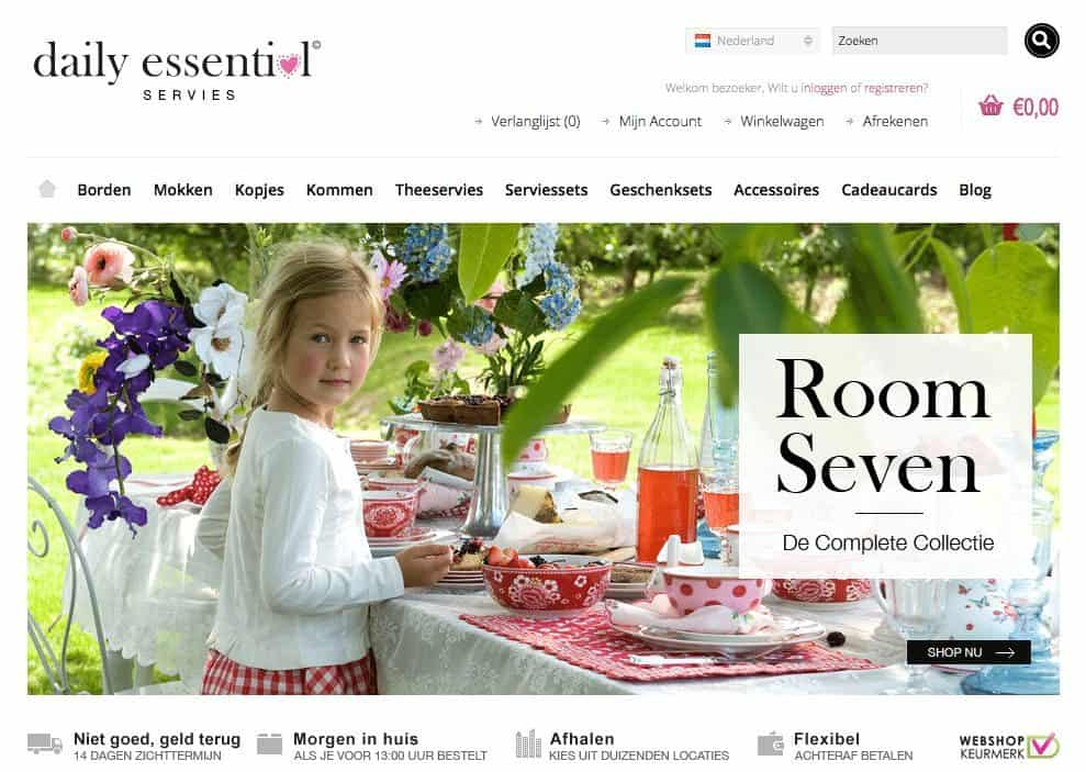 Daily Essential servies webshop