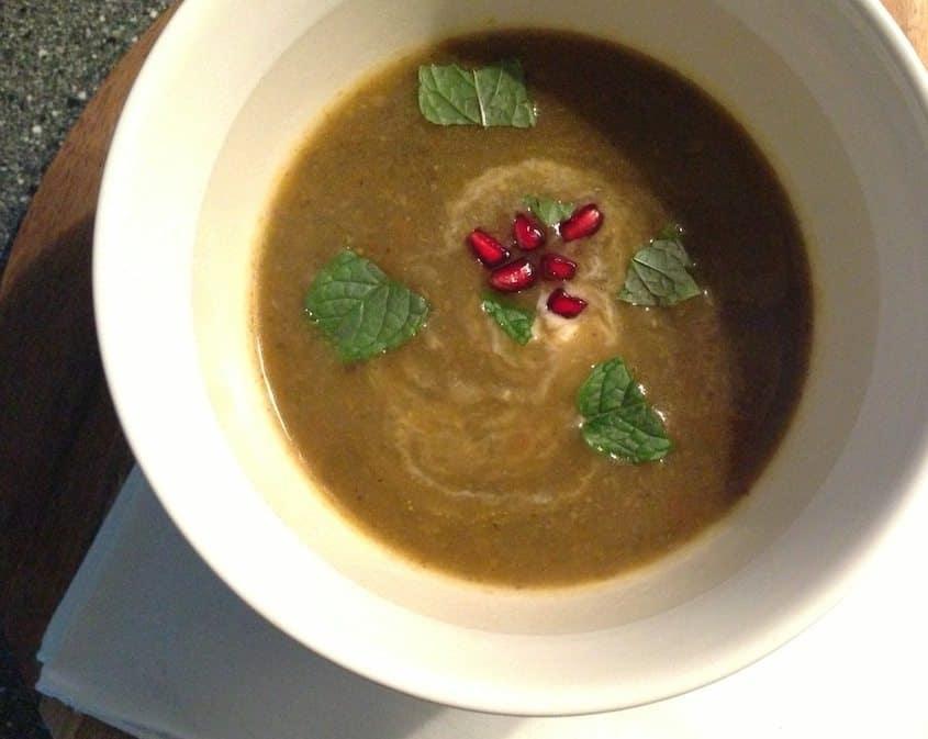 Dikke groentesoep met ras el hanout LR
