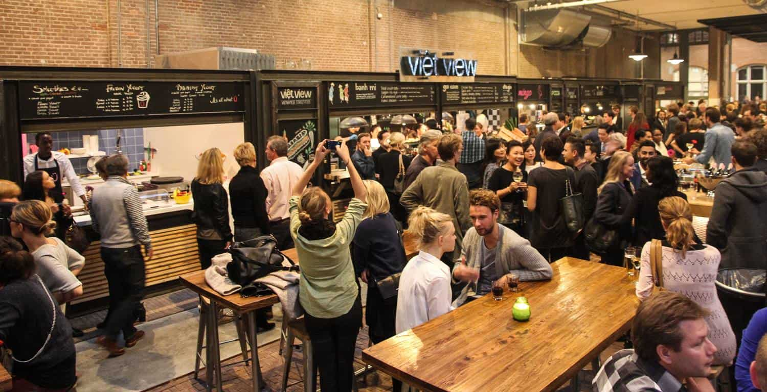 Foodhallen Amsterdam is geopend_viet view