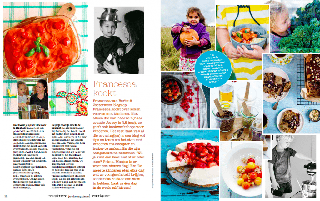 Francesca Kookt! in Jamie Magazine augustus 2013