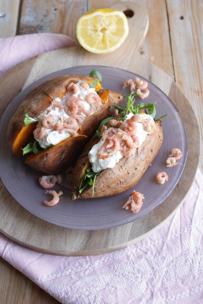 Francesca Kookt_gepofte zoete aardappel met hollandse garnalen_3
