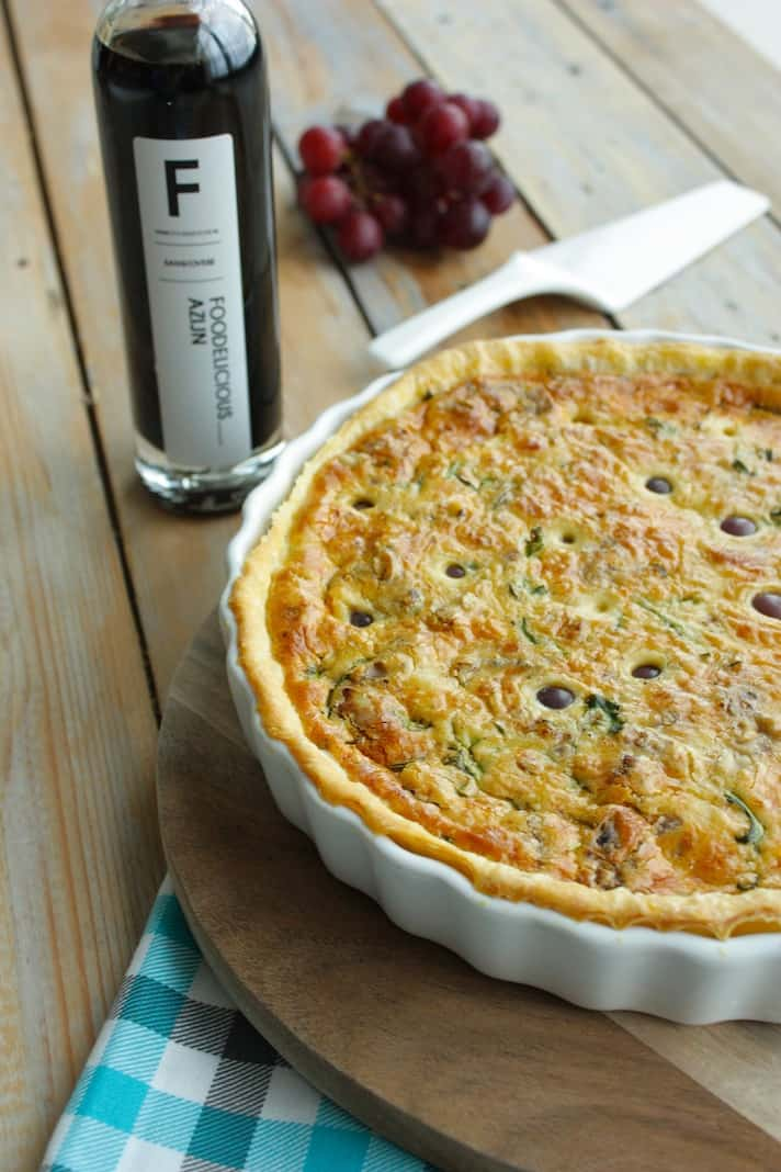 Francesca kookt met Foodelicious_quiche met rucola_oude kaas_druiven_2