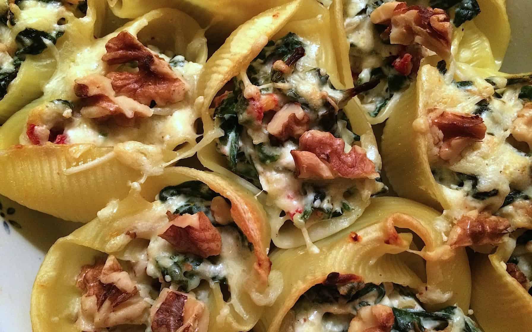 Gevulde pastaschelpen met spinazie_1_uitgelicht