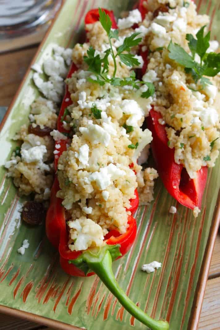 Gevulde rode paprika met bloemkool curry en couscous_2