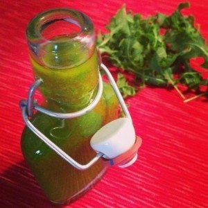 Groene kruiden olie