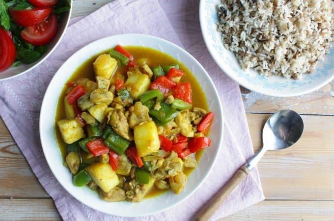 Kip kerrie met ananas_1