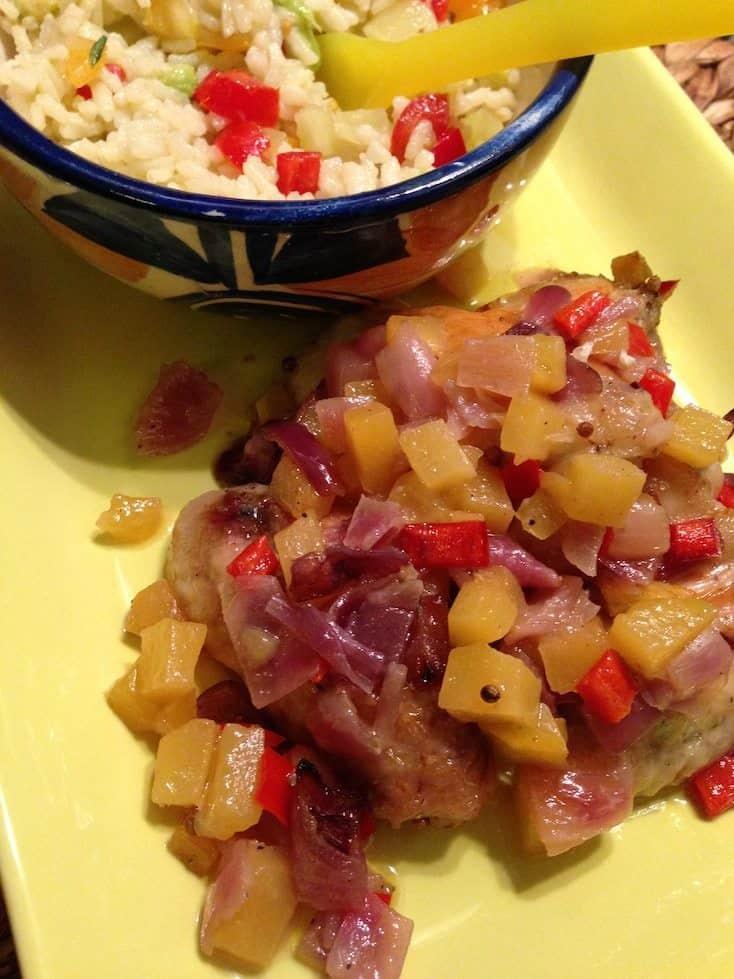 Kip uit de oven met mango en kruidige rijst_2