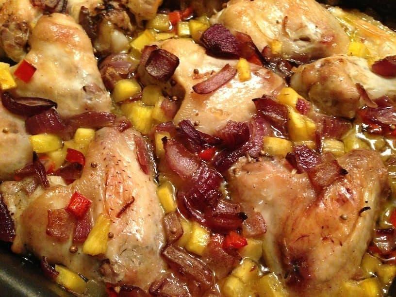 Kip uit de oven met mango en kruidige rijst_5