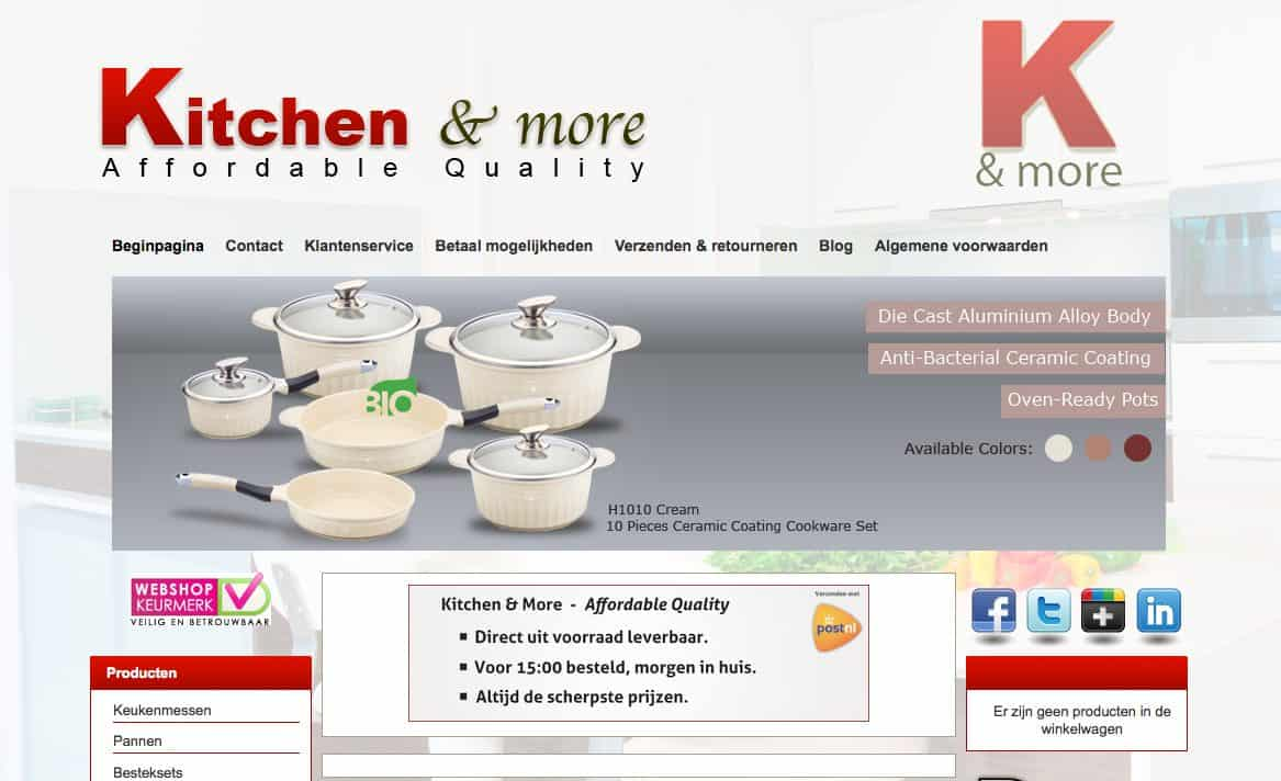 Kitchen and More website