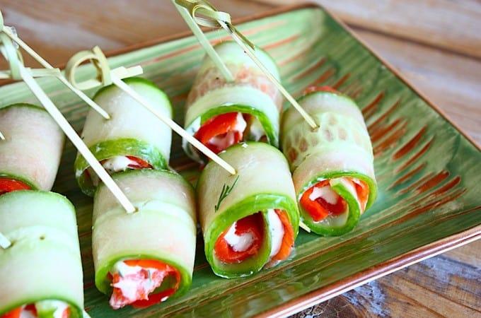 Komkommerrolletjes met zalm dille en mierikswortel francesca kookt - Ideeen van voorgerecht ...