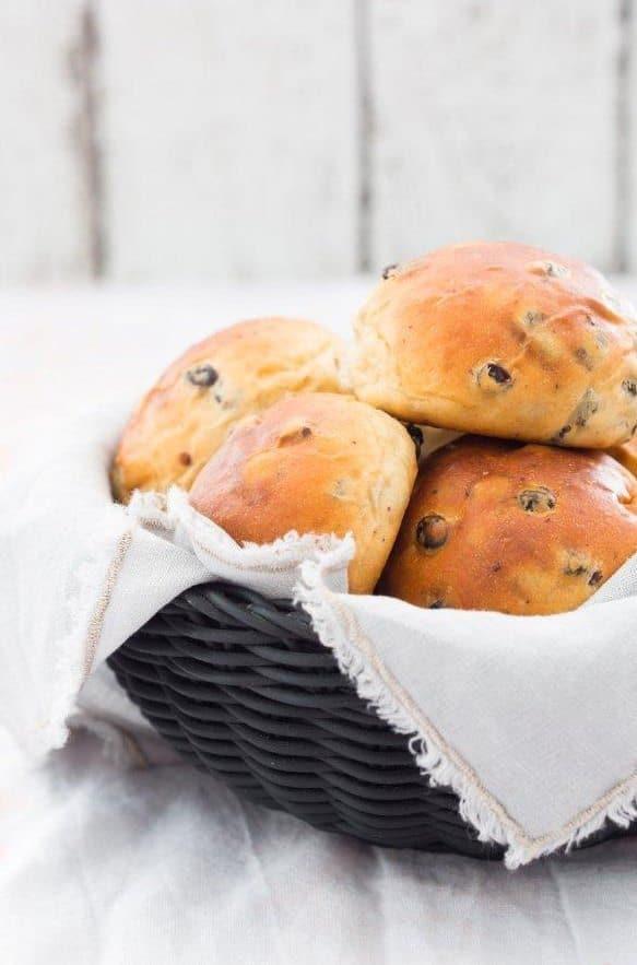 Krentenbollen uit Brood uit egen oven_6