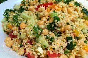 Kruidige bulgur salade met kikkererwten_1