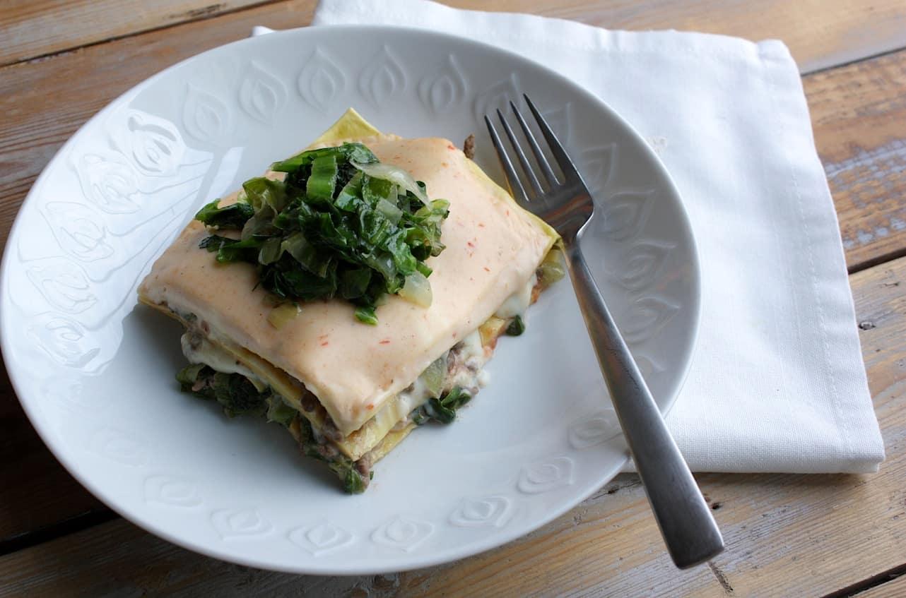 Lasagne van andijvie en gehakt_2