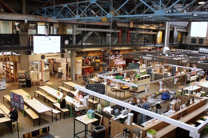 Mathallen, het food court van Oslo - Francesca Kookt