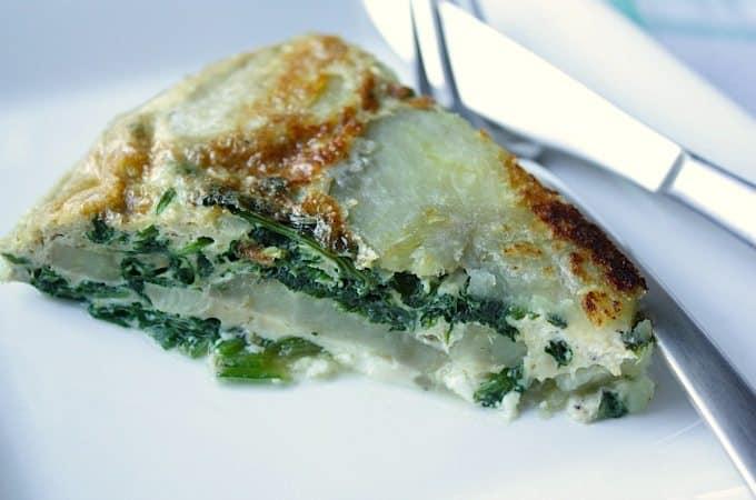 Omelet met spinazie, zoete aardappel en feta_1