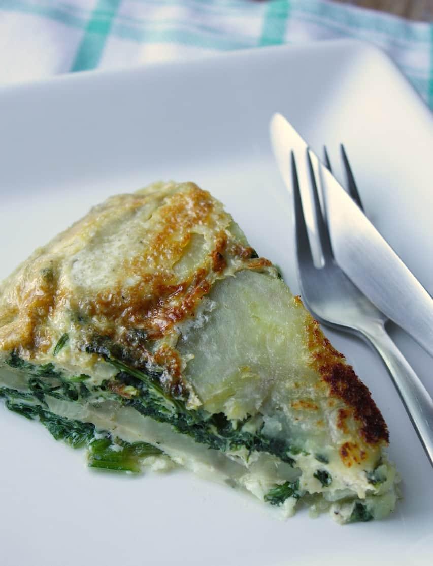 Omelet met spinazie, zoete aardappel en feta_3