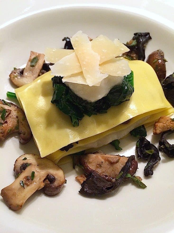 Open ravioli met aardpeer, paddenstoelen en spinazie_2