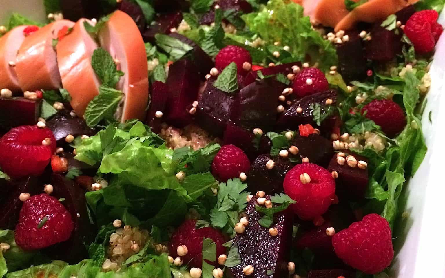 Quinoa salade met rode biet en frambozen_1_uitgelicht