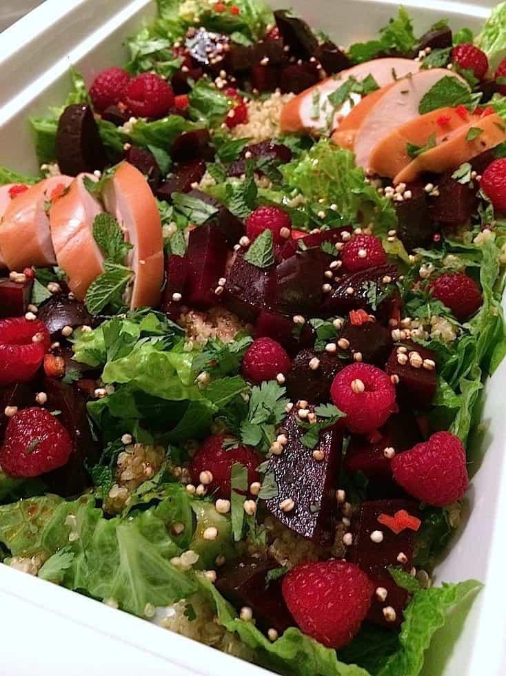 Quinoa salade met rode biet en frambozen_2