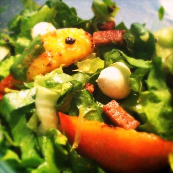 Salade met andijvie en gegrilde nectarines_2