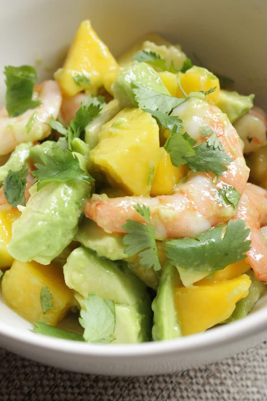 Salade met avocado, mango en garnalen_2