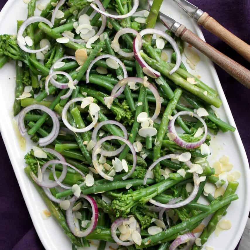 Salade met bimi, haricot verts en groene asperges_2