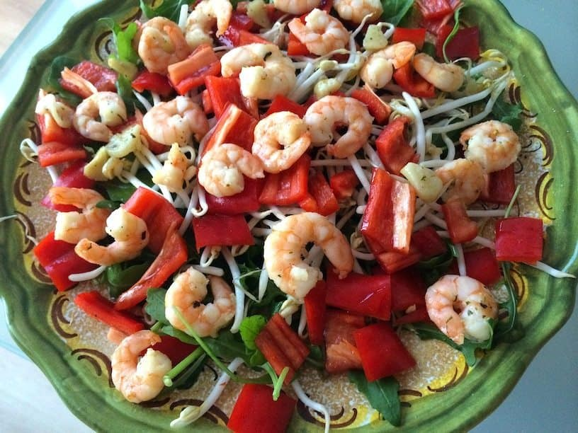 Salade met garnalen_thaise basilicum_2