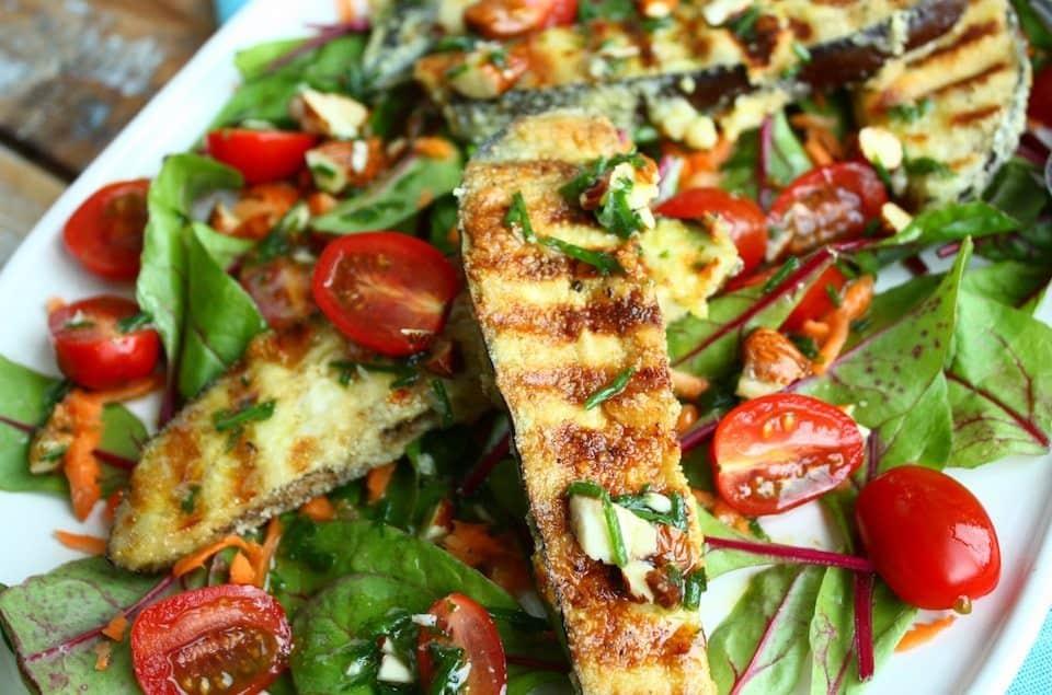 Salade met gebakken aubergine_3