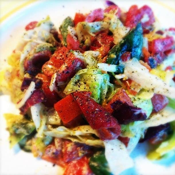 Salade met gegrilde paprika en houmous_2