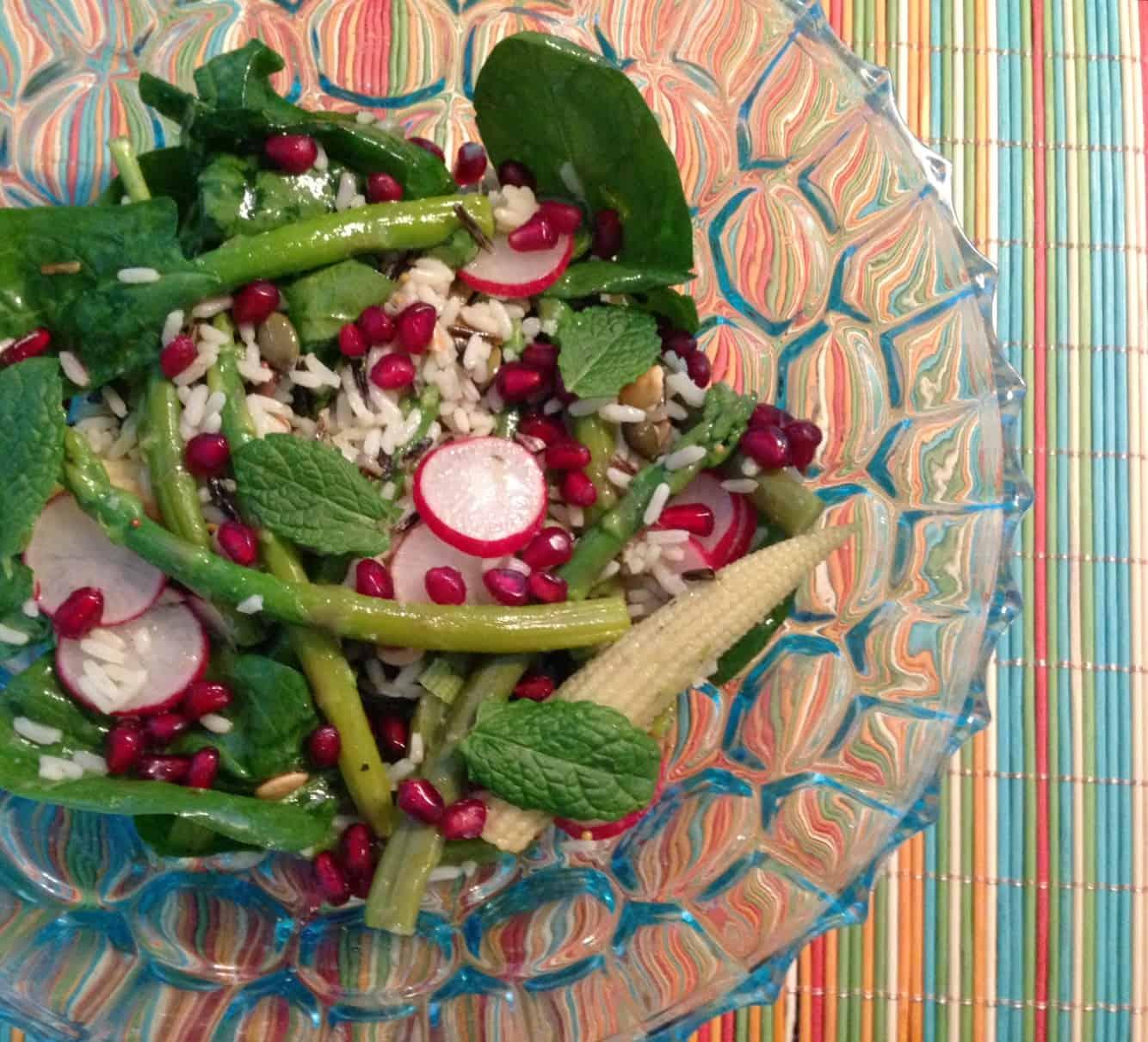 Salade van groene asperges en wilde rijst2