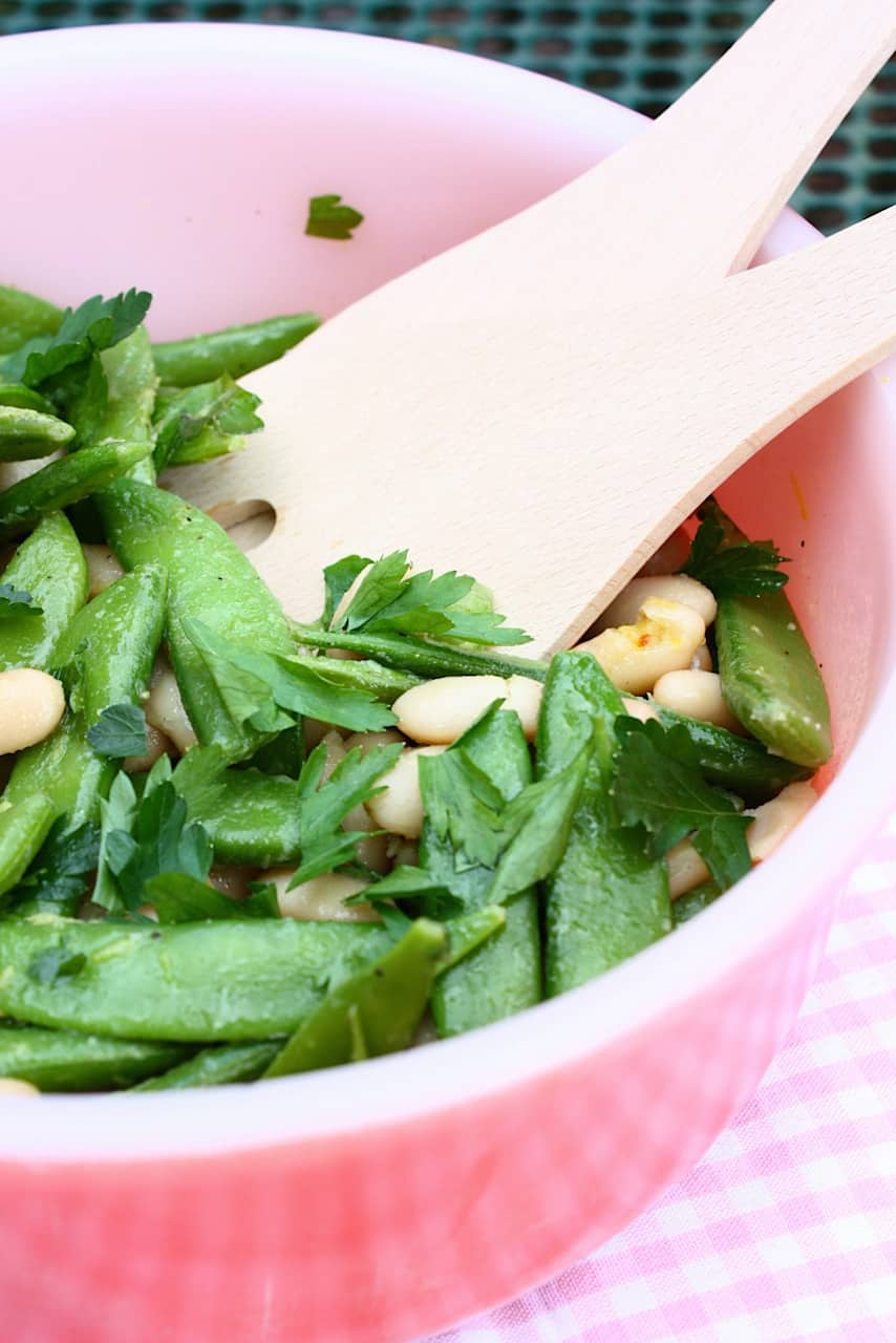 Salade_met_sugar_snaps_cannellini_bonen_2
