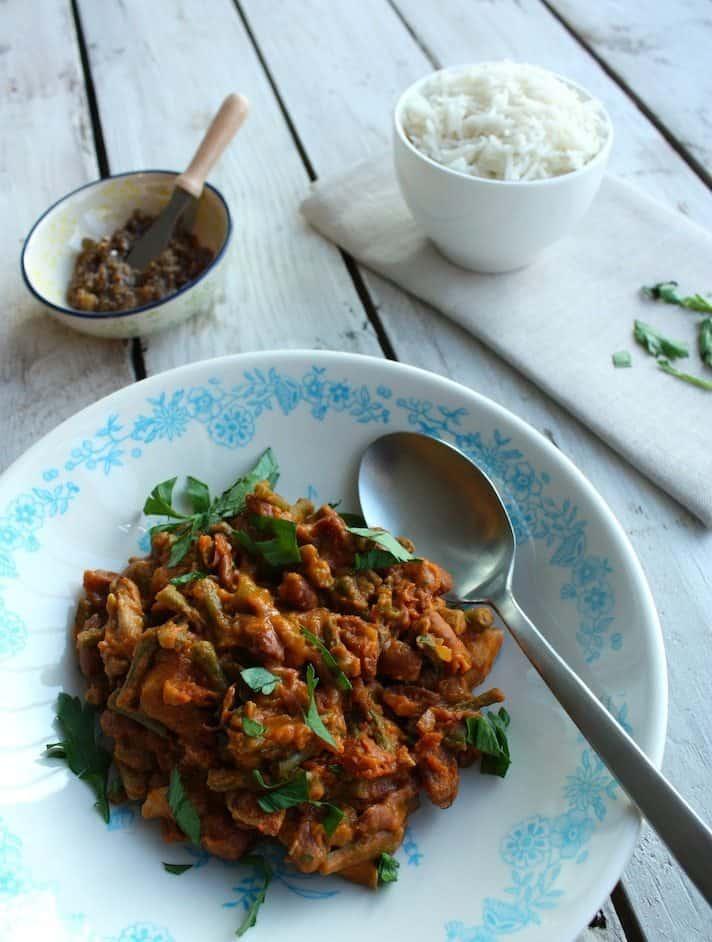 Surinaamse bruine bonen met rijst_2