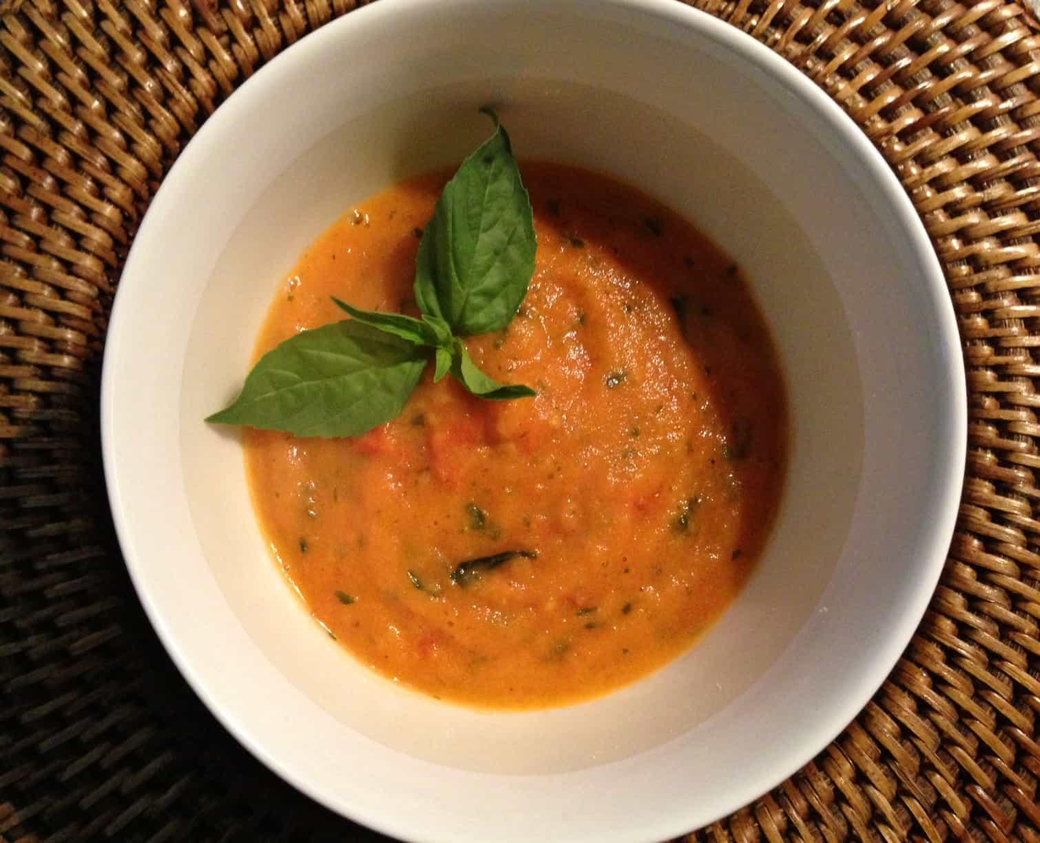 Tomaten basilicum soep1