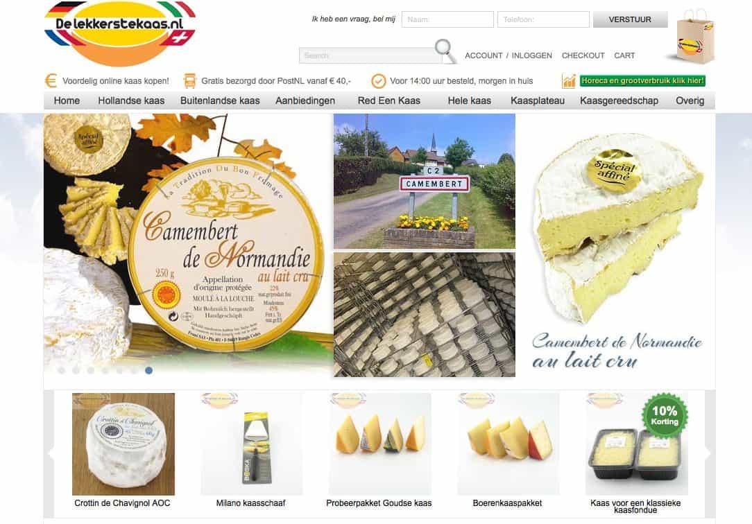 Website delekkerstekaas.nl