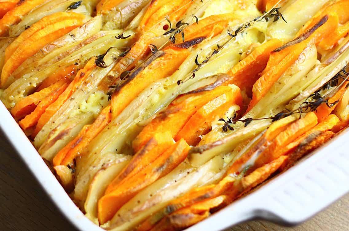 rauwe aardappels uit de oven