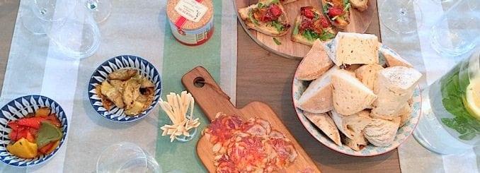 organiseer-een-running-dinner-welcome drinks-antipasti