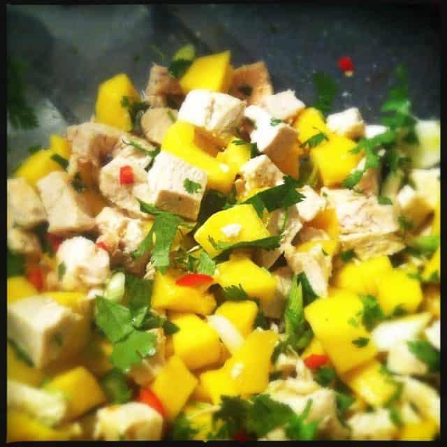 salade kip, mango, chili, koriander1