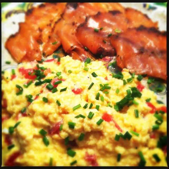 scrambled eggs zalm