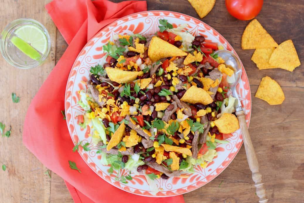 Vaak Taco salade met bruine bonen - Francesca Kookt #AN81